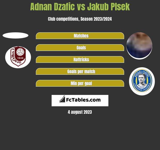 Adnan Dzafic vs Jakub Plsek h2h player stats
