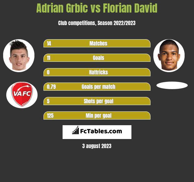 Adrian Grbic vs Florian David h2h player stats