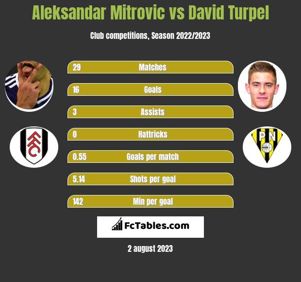 Aleksandar Mitrović vs David Turpel h2h player stats