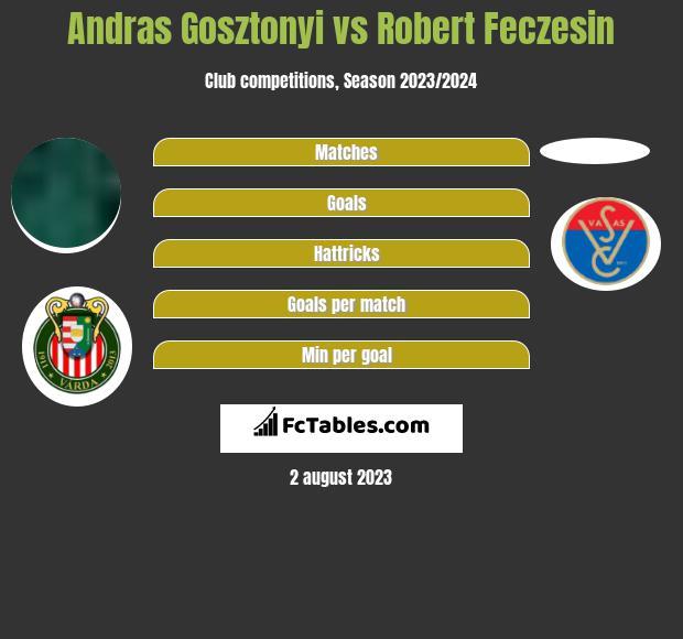 Andras Gosztonyi vs Robert Feczesin infographic