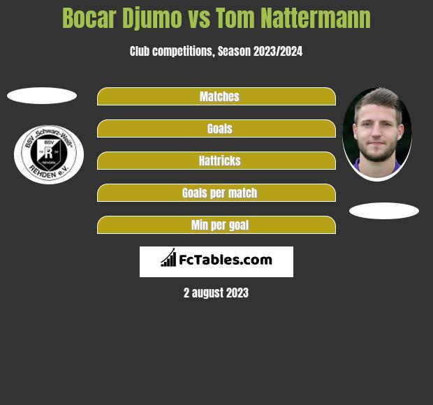Bocar Djumo vs Tom Nattermann h2h player stats