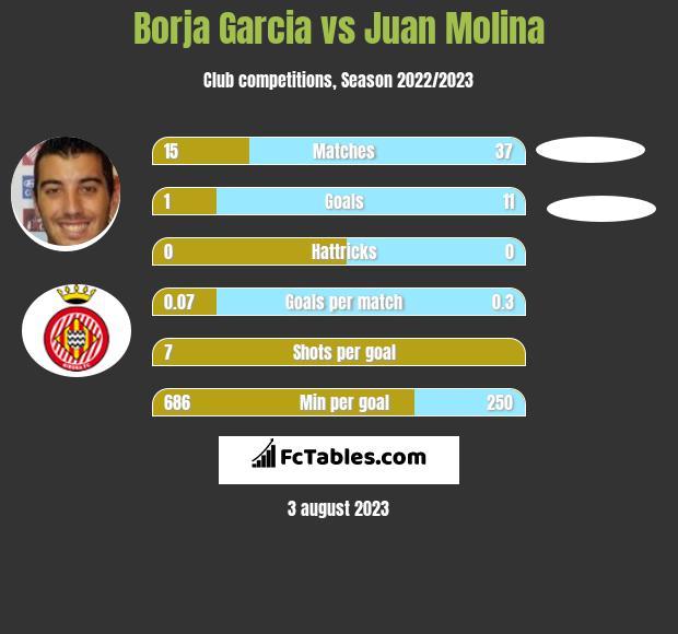 Borja Garcia vs Juan Molina infographic