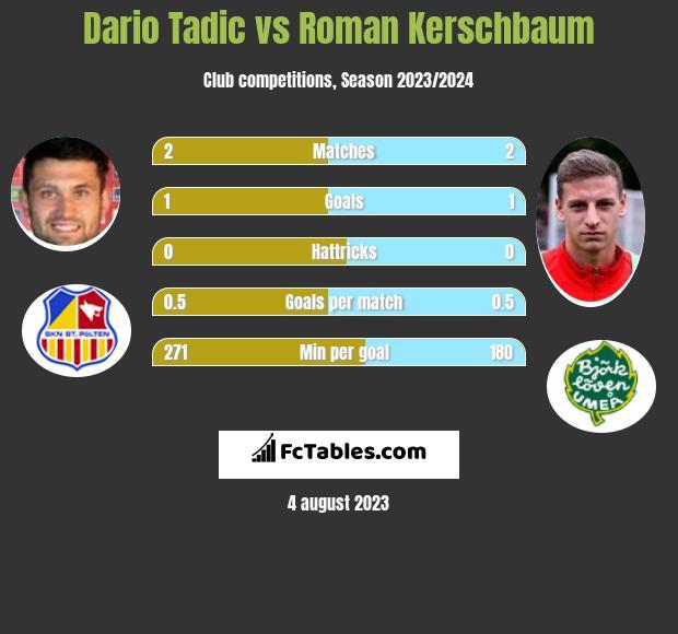 Dario Tadic vs Roman Kerschbaum h2h player stats