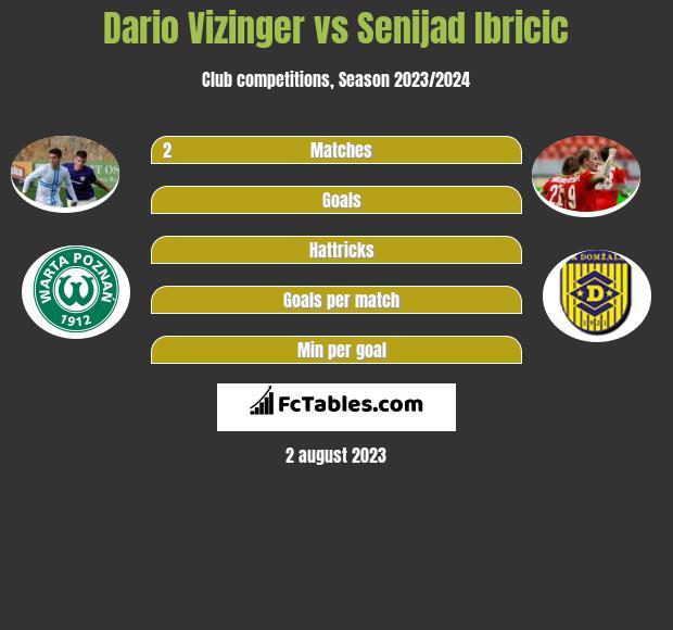 Dario Vizinger vs Senijad Ibricić h2h player stats