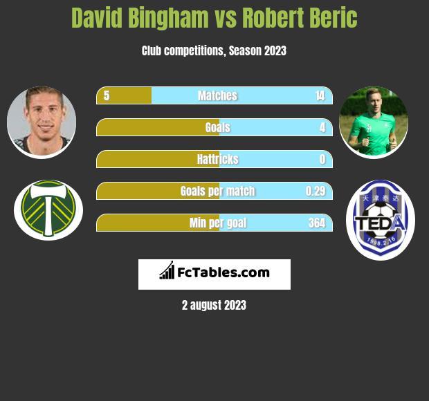 David Bingham vs Robert Beric infographic