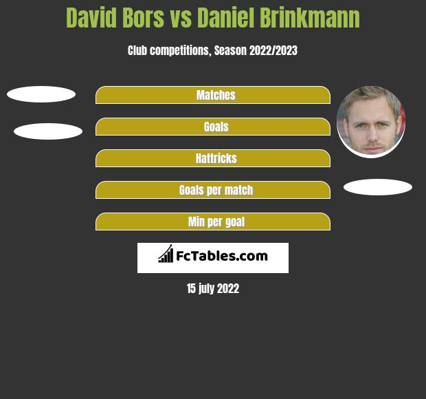 David Bors vs Daniel Brinkmann h2h player stats
