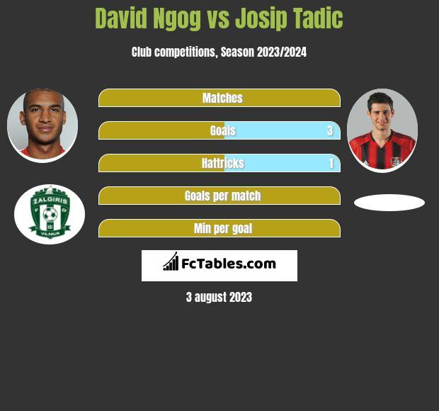 David Ngog vs Josip Tadić infographic