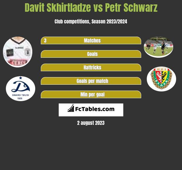 Davit Skhirtladze vs Petr Schwarz h2h player stats