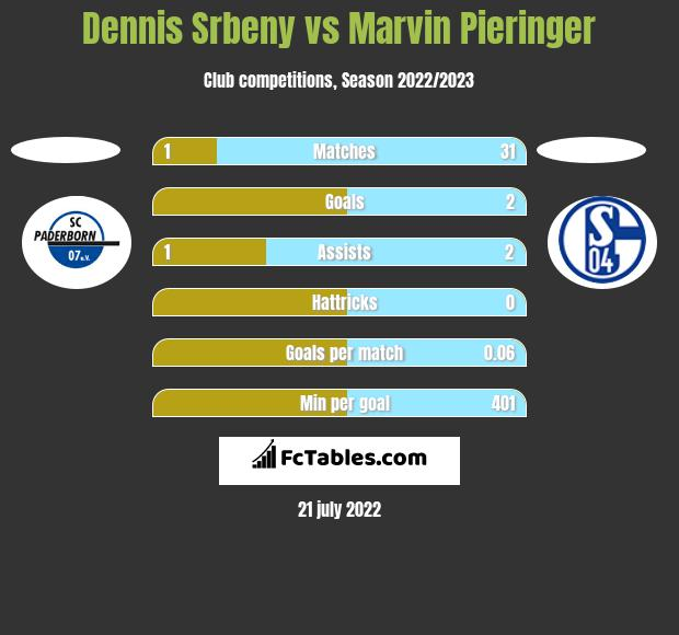 Dennis Srbeny vs Marvin Pieringer h2h player stats