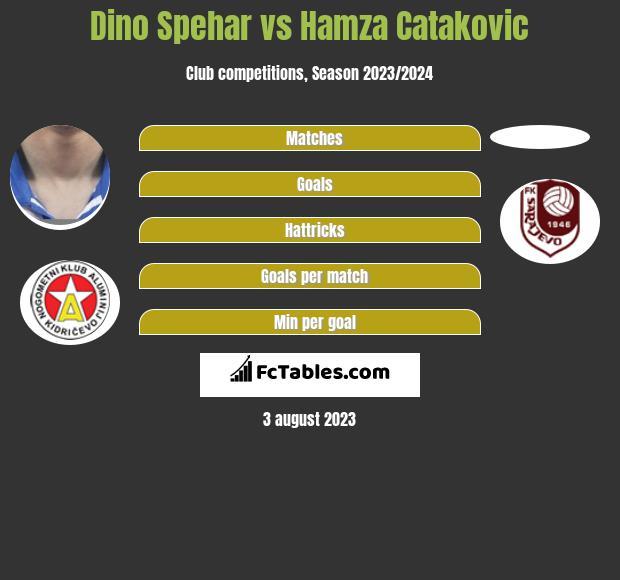 Dino Spehar vs Hamza Catakovic h2h player stats