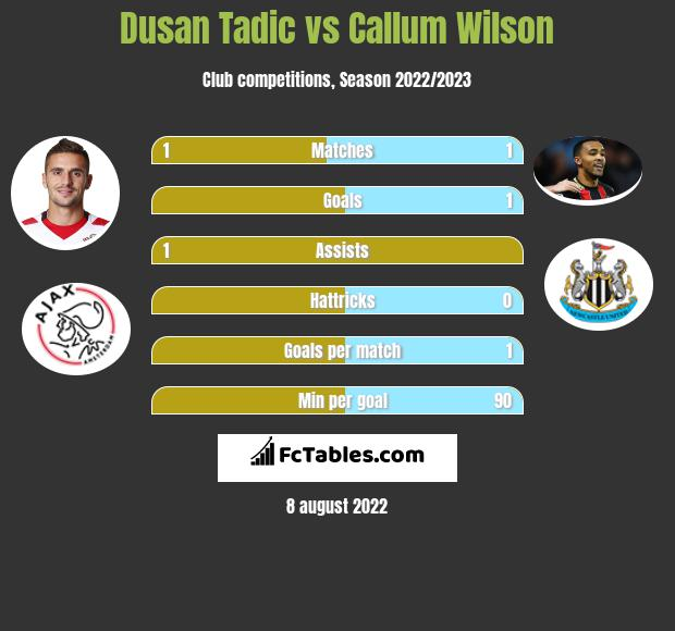 Dusan Tadic infographic statistics for Southampton