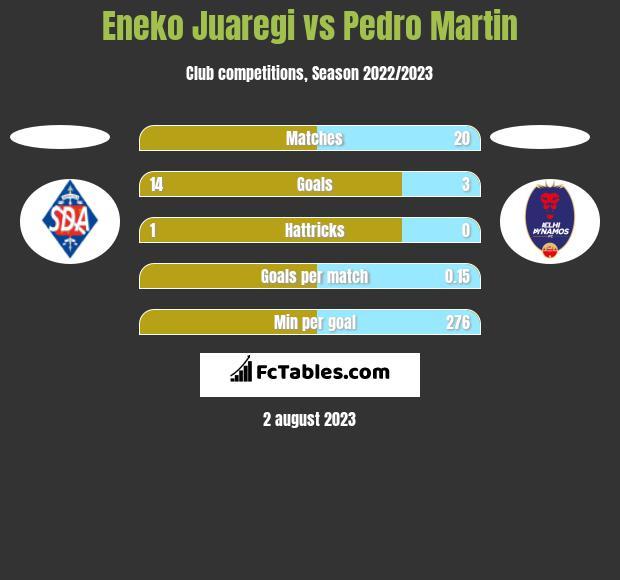 Eneko Juaregi vs Pedro Martin h2h player stats