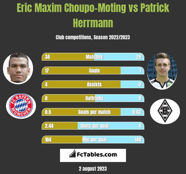 Eric Maxim Choupo-Moting vs Patrick Herrmann h2h player stats