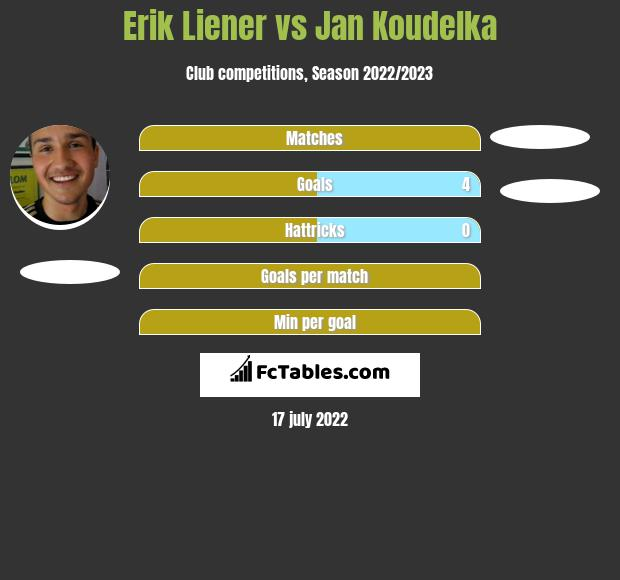 Erik Liener vs Jan Koudelka h2h player stats