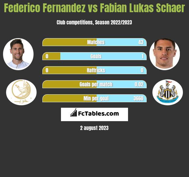 Federico Fernandez vs Fabian Lukas Schaer infographic