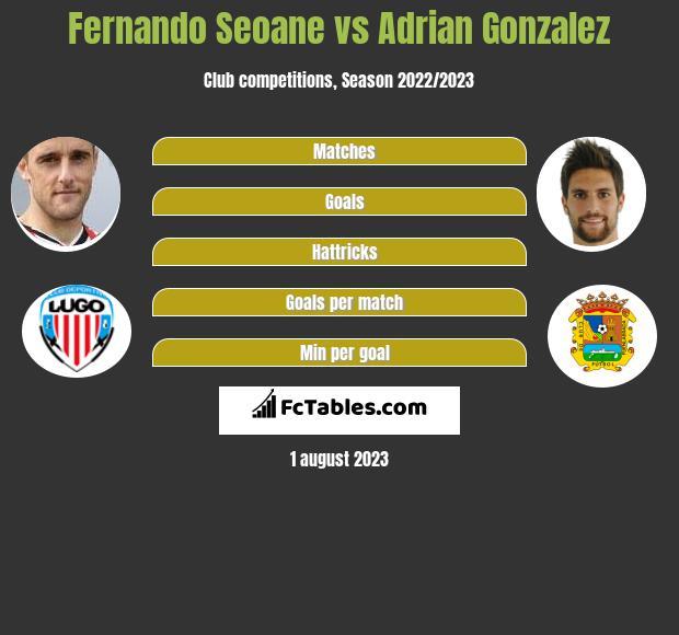 Fernando Seoane vs Adrian Gonzalez infographic