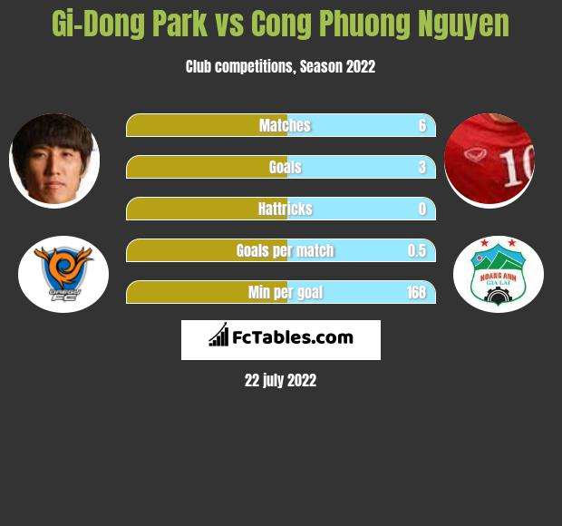 Gi-Dong Park vs Cong Phuong Nguyen infographic