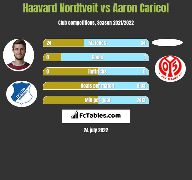 Haavard Nordtveit infographic statistics for FSV Mainz