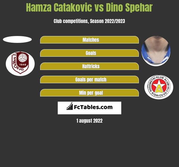 Hamza Catakovic vs Dino Spehar h2h player stats