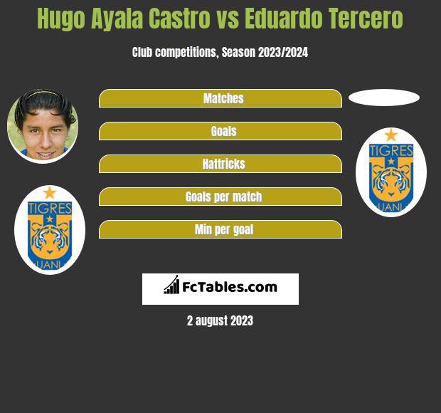 Hugo Ayala Castro vs Eduardo Tercero infographic