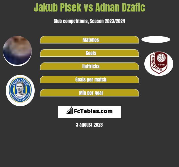 Jakub Plsek vs Adnan Dzafic h2h player stats