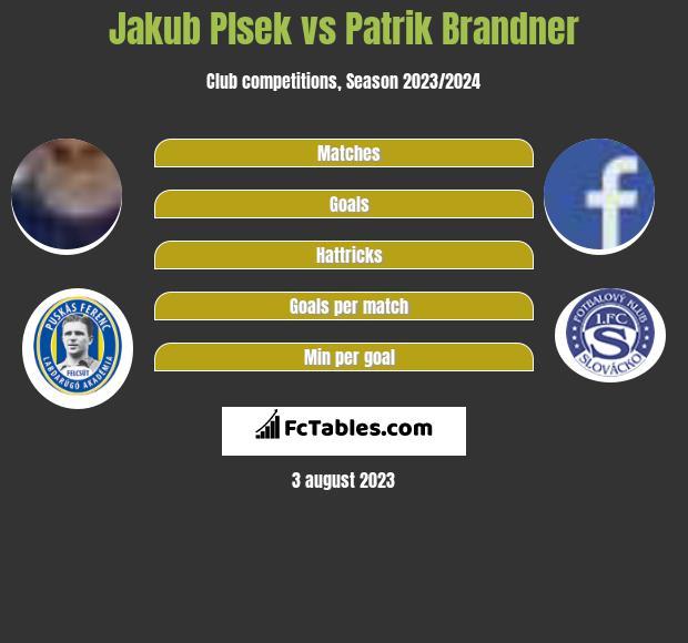 Jakub Plsek vs Patrik Brandner h2h player stats