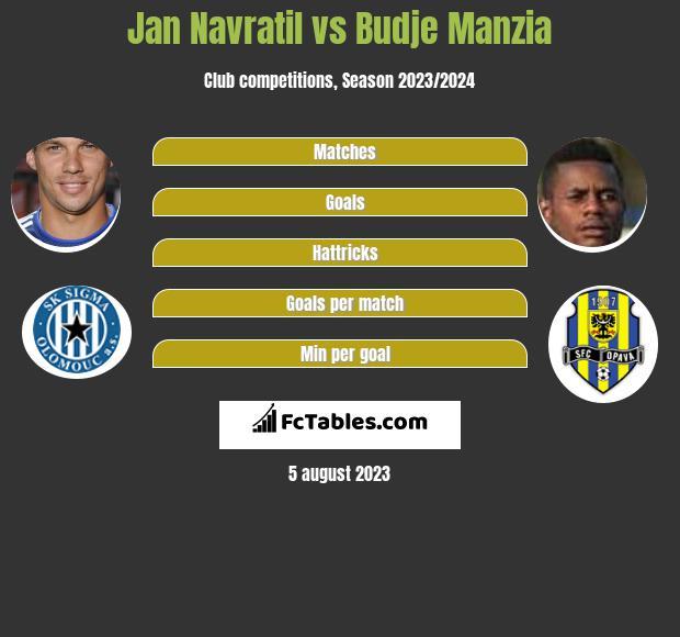 Jan Navratil vs Budje Manzia infographic