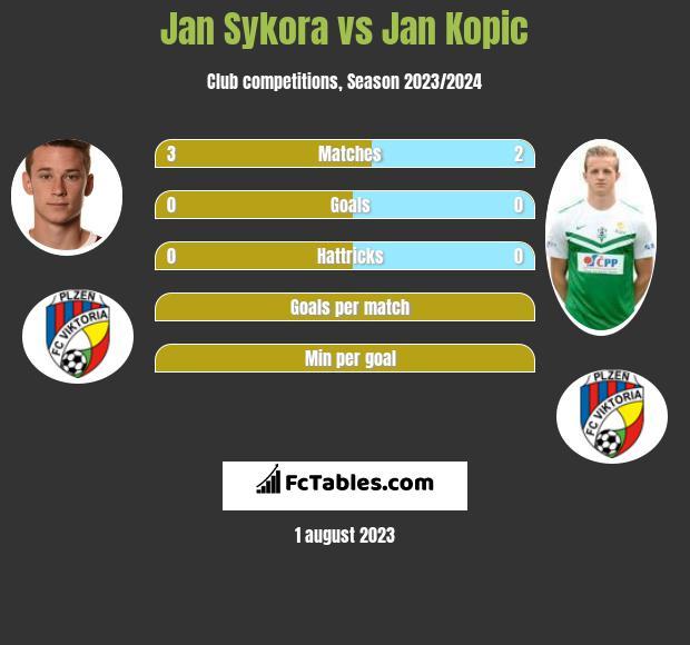 Jan Sykora vs Jan Kopic h2h player stats