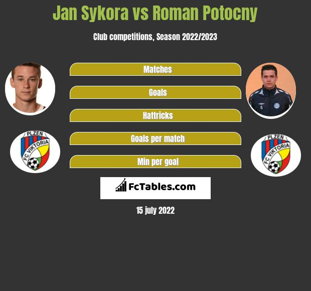 Jan Sykora vs Roman Potocny infographic