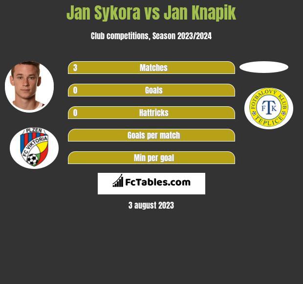Jan Sykora vs Jan Knapik infographic