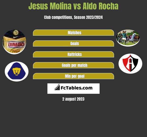 Jesus Molina vs Aldo Rocha infographic