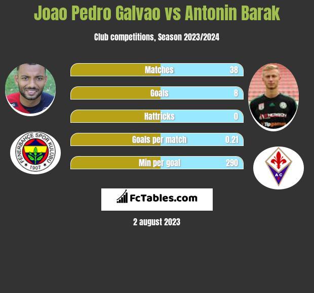Joao Pedro Galvao vs Antonin Barak h2h player stats
