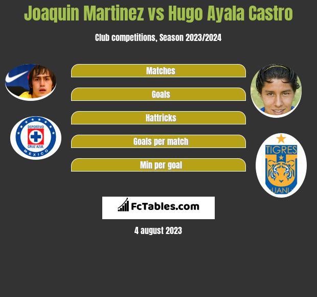Joaquin Martinez vs Hugo Ayala Castro infographic