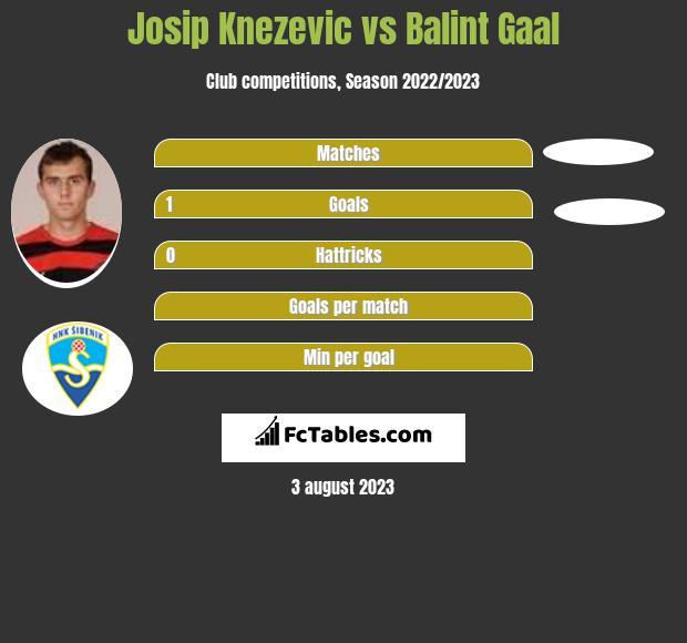 Josip Knezevic vs Balint Gaal h2h player stats