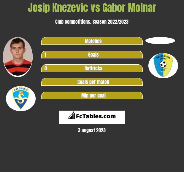Josip Knezevic vs Gabor Molnar h2h player stats