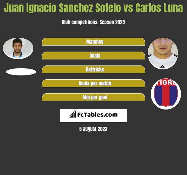 Juan Ignacio Sanchez Sotelo vs Carlos Luna h2h player stats