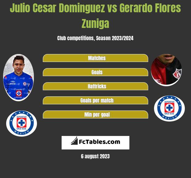 Julio Cesar Dominguez vs Gerardo Flores Zuniga infographic