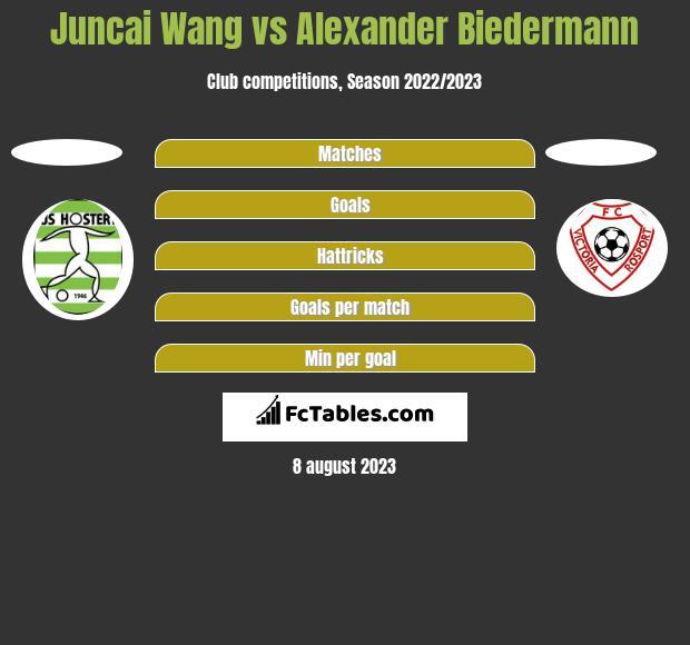 Juncai Wang vs Alexander Biedermann h2h player stats