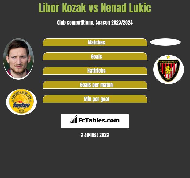 Libor Kozak vs Nenad Lukic infographic