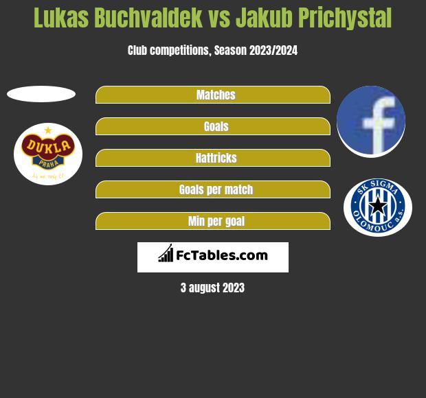 Lukas Buchvaldek vs Jakub Prichystal h2h player stats