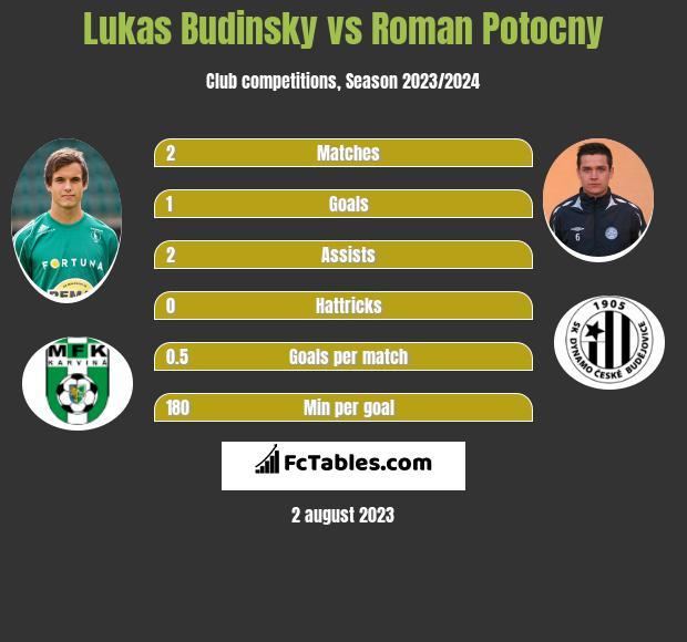 Lukas Budinsky vs Roman Potocny h2h player stats
