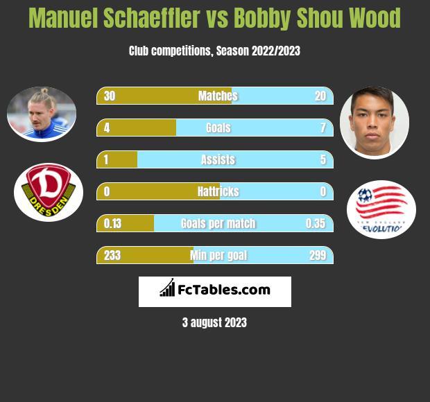Manuel Schaeffler vs Bobby Shou Wood infographic