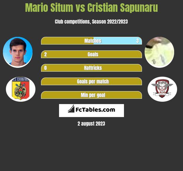 Mario Situm vs Cristian Sapunaru infographic