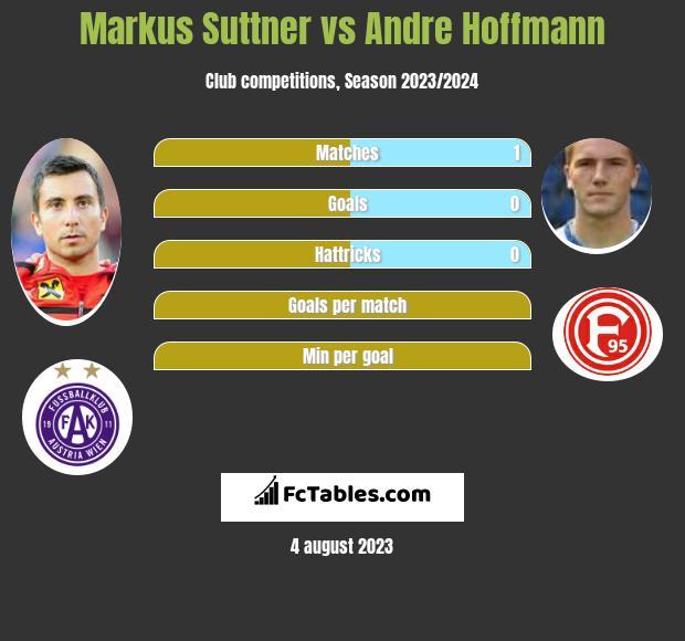 Markus Suttner vs Andre Hoffmann infographic