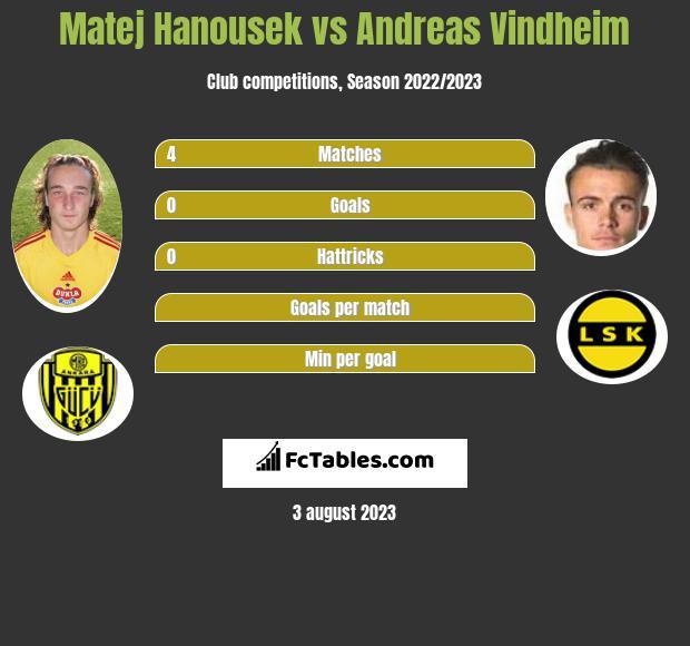 Matej Hanousek vs Andreas Vindheim infographic