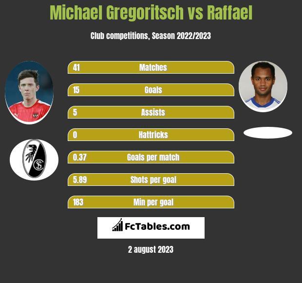 Michael Gregoritsch vs Raffael h2h player stats