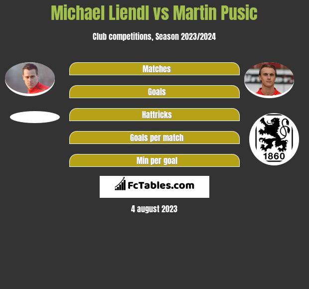 Michael Liendl vs Martin Pusic infographic
