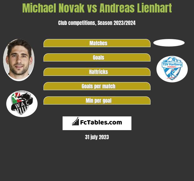 Michael Novak vs Andreas Lienhart infographic