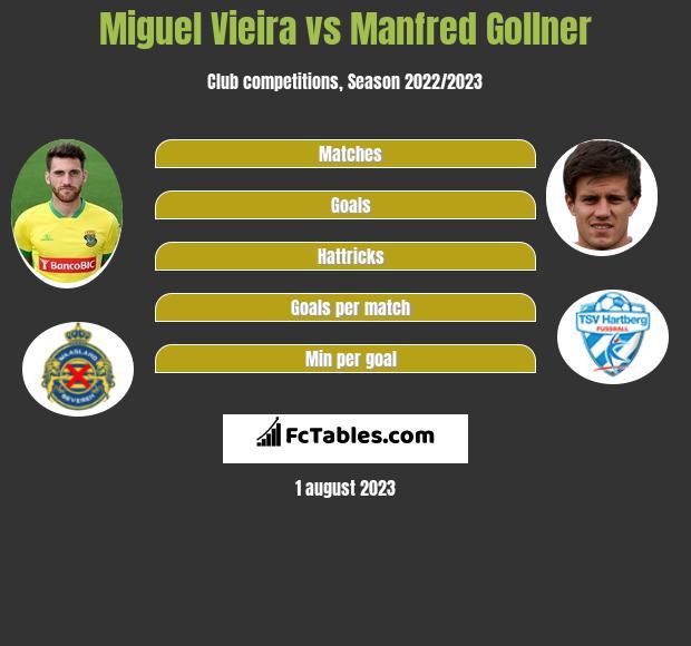 Miguel Vieira vs Manfred Gollner infographic