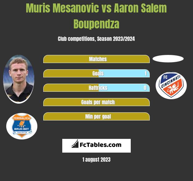 Muris Mesanovic vs Aaron Salem Boupendza infographic